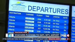 Evacuees Flock to Airport as Hurricane Irma Nears - Video