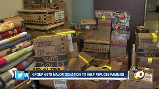 Group gets major donation to help refugee families - Video