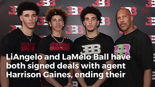 Ball brothers sign major deal that means they'll never again play NCAA... - Video