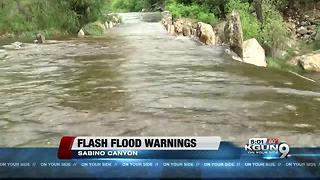 PCSD warns of increased water levels at Tanque Verde Falls and Sabino Canyon - Video