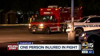 One person hurt in Chandler fight - Video