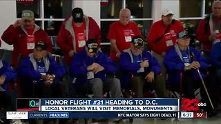 Honor Flight Kern County heads to Washington D.C. for their last trip of the year - Video