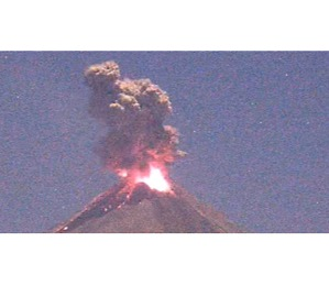 Colima Volcano Spews Dense Cloud of Ash and Smoke