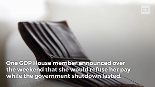 GOP Congresswoman Refuses Pay During Shutdown - Video