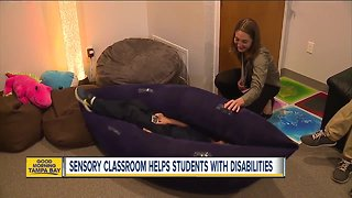 Sensory classroom helps students with disabilities