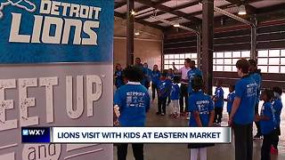 Lions Eric Ebron, Theo Riddick, Glover Quin spend day with second graders at Eastern Market - Video