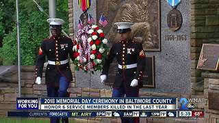 Annual Memorial Day Ceremony at Dulaney Valley Memorial Garden honors 6 service members - Video