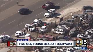Two men found dead at Phoenix junkyard - Video