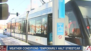 KC Streetcar running after weather shutdown - Video