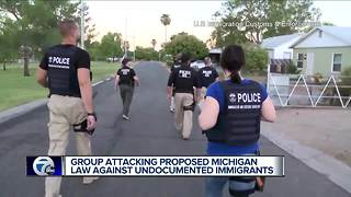 Group attacking proposed Michigan law against undocumented immigrants - Video