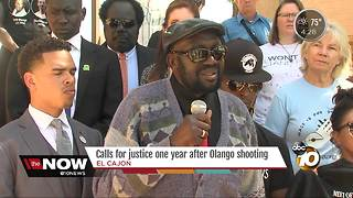 Calls for justice one year after Olango shooting - Video