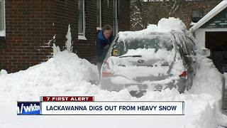 Lackawanna snow dig out - Video