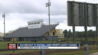 Gun brought to football game prompts safety changes - Video