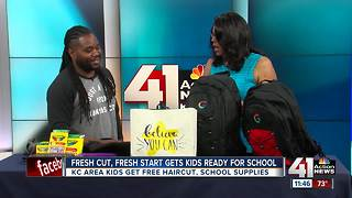 'Fresh Cut, Fresh Start' gets kids ready for school - Video