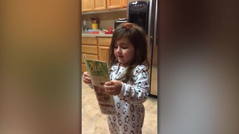Funny Tot Girl Get Upset Over Coupons