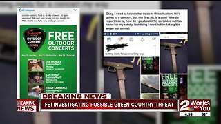 FBI investigating possible threat to upcoming concert