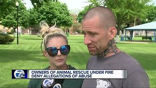 Owners of animal rescue under fire deny allegations of abuse - Video