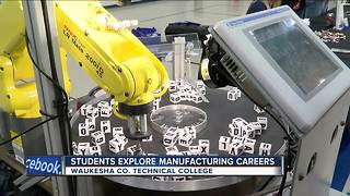 Waukesha Co. students get close look at careers in manufacturing & skilled trades - Video