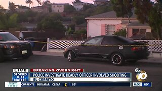 SDPD confirms officer-involved shooting in El Cerrito