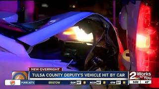 Drunk driver was arrested after ramming back of Tulsa County Deputy's Car - Video