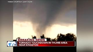Tornado touches down in thumb area near Kingston - Video