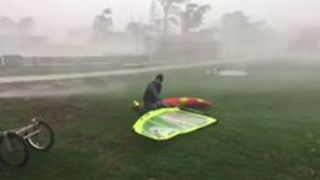 Windstorm Causes Damage During Sweep Through Austria's Neusiedlersee - Video