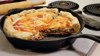 Sausage and Bacon Calzone