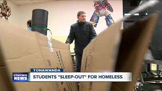 Ken-Ton sleeps out for homeless - Video