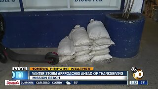 San Diegans prep for strong storm ahead of Thanksgiving