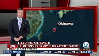 US Navy says aircraft with 11 aboard crashed into Pacific - Video