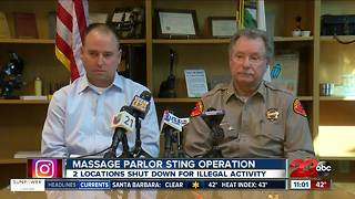 Three people arrested following massage parlor sting operation - Video