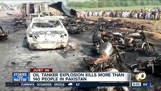 Oil tanker explosion kills more than 140 people in Pakistan - Video