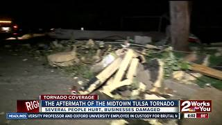 Industrial area in midtown waking up to tornado damage - Video