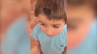 This Adorable Boy Gave Himself A Makeover Because It Was Just Too Hot - Video