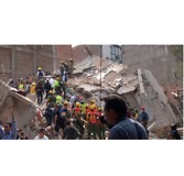 Emergency Workers Respond to Collapsed Building After Mexico Earthquake - Video