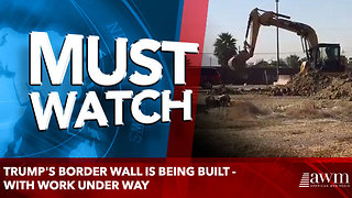 Trump's border wall IS being built - with work under way - Video
