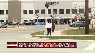 Romulus Amazon employees protest work conditions as COVID-19 spreads