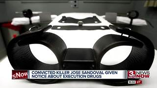 Convicted killer Jose Sandoval given notice about execution drugs - Video