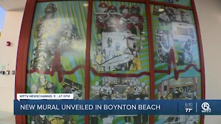 New Boynton Beach Fire Rescue mural unveiled after Black firefighters removed from earlier version