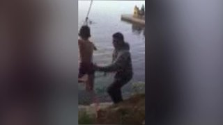 Little Boy's Rope Swing Fail - Video
