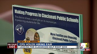 Cincinnati Public Schools hosts job fair
