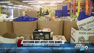 Longterm government shutdown could have major impact on food banks