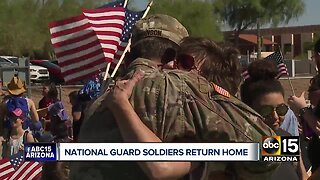 National Guard soldiers return home