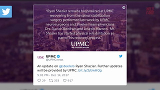 Pittsburgh Hospital Releases Update On Ryan Shazier - Video