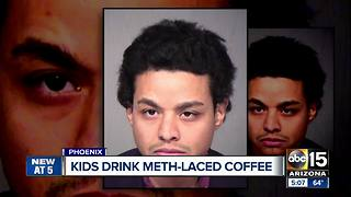 Man accused of giving kids meth-laced coffee - Video