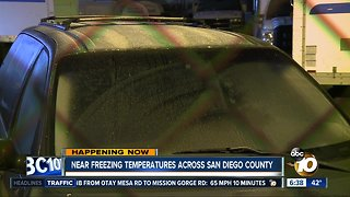 San Diego County hit with near freezing temperatures