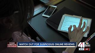 Watch out for suspicious online reviews - Video