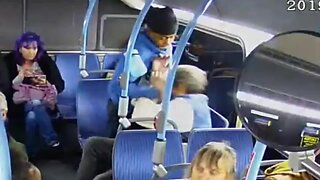 RAW VIDEO: Vegas police release video of attack on local bus