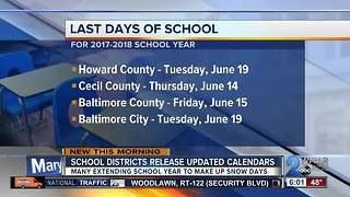 School year extended for thousands of MD students - Video