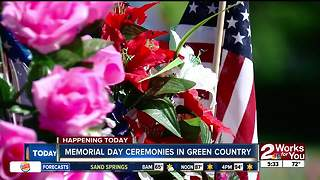 Memorial Day ceremonies across Green Country - Video